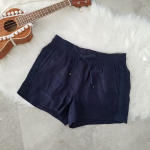 J. Crew Navy Blue Linen Drawstring Shorts Small